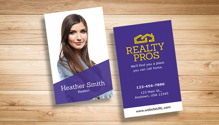 10 free real estate business card templates psd pdf gotprint blog previewreal estatebc 01 flashek Images