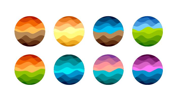 no gradients in logos
