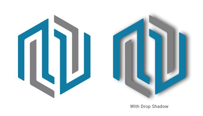 No drop shadow in logos