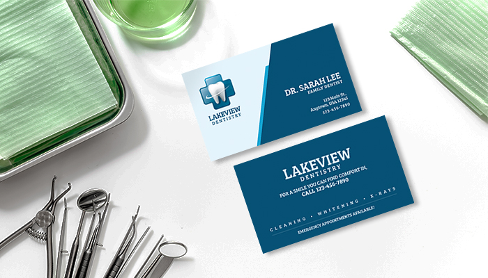 Dentist business card design inspirations gotprint blog family dentist business card colourmoves