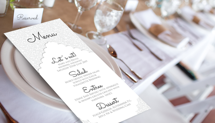 GotPrint Day-of Wedding Stationery