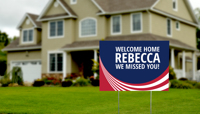 GotPrint Welcome Home Yard Signs