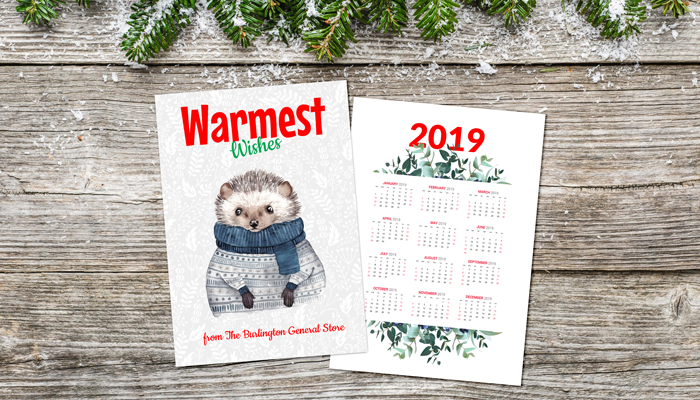 GotPrint Holiday Calendar Card