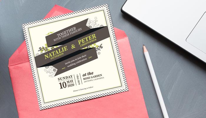 GotPrint Retro Wedding Invitations