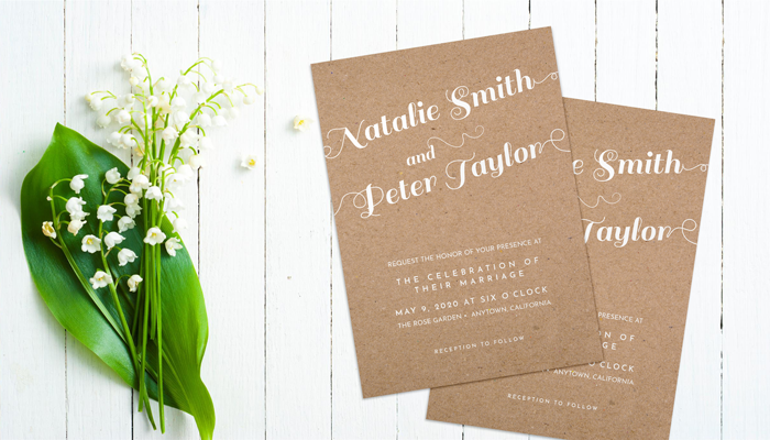 GotPrint Calligraphy Wedding Invitations