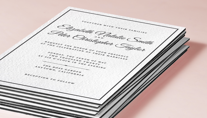 GotPrint Formal Wedding Invitations