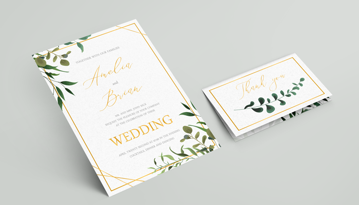 Matte vs. Glossy Invitations
