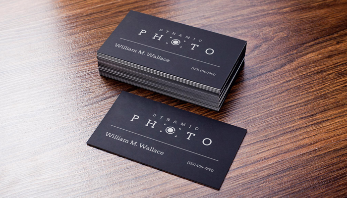 GotPrint Black and White Business Cards