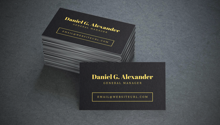 GotPrint Black and Gold Business Cards